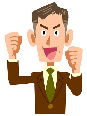older: Of older businessmen get excited