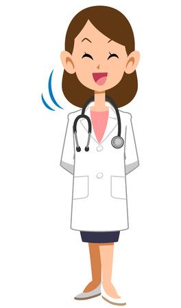 lab coat: Doctor nods