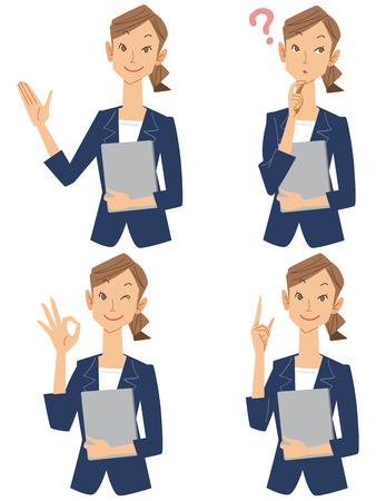 Set of business women