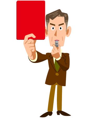 Los ejecutivos corporativos emitieron una tarjeta roja