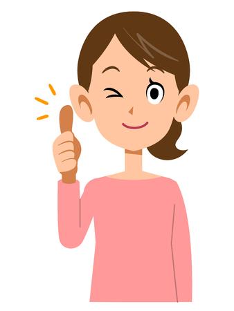 ap: woman thumbs up