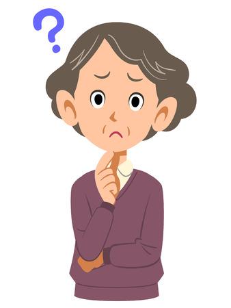 middle age women: older woman doubts