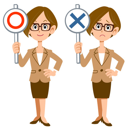 incorrect: Correct incorrect businesswoman Illustration