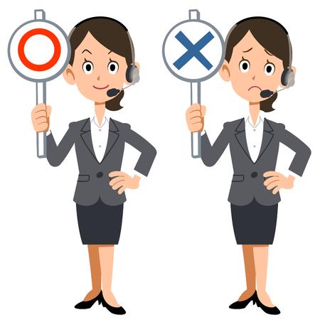suspicion: Correct incorrect call center woman