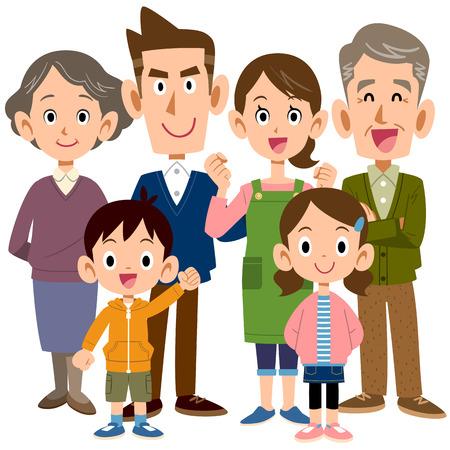 6 person family