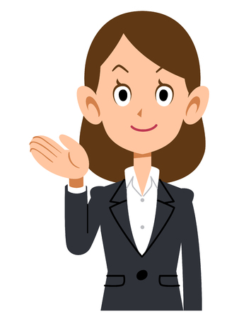 new employees: To introduce women in suits Illustration