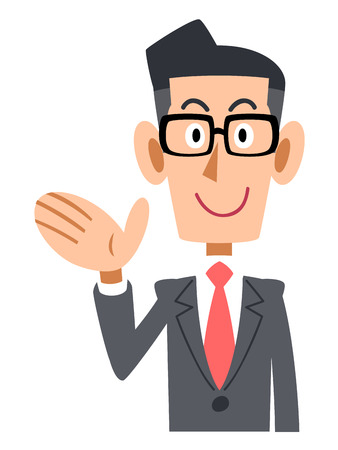 salaried worker: To introduce businessmen put on glasses Illustration