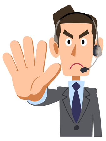 apo: To stop a businessman wearing a headset