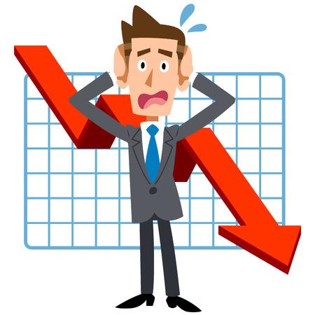 Businesspeople fret slump Çizim