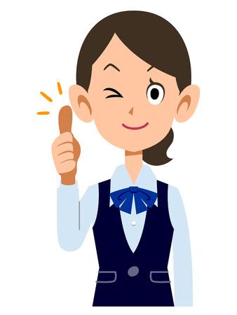 ol: Samap female employees wear uniforms