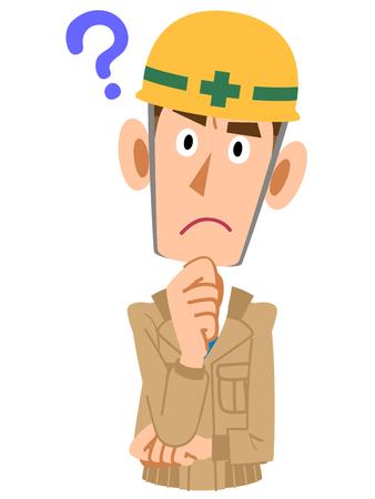 Hombres en una obra de construcción tienen preguntas