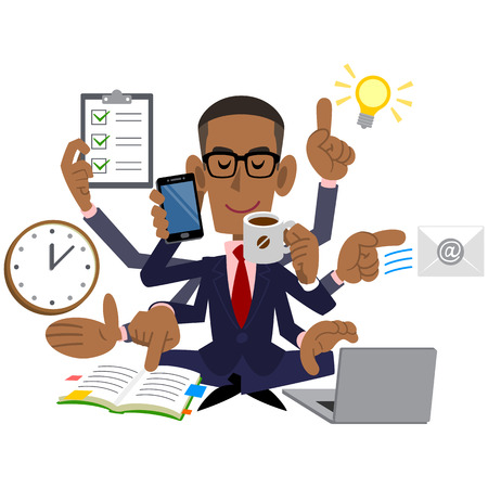 busy person: A successful businessman Illustration