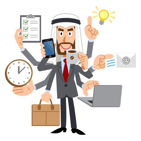 busy person: Capable businessman of the Arabs