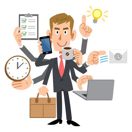 salaried: A successful blonde businessman