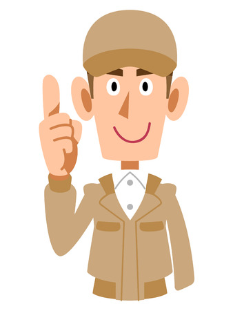dedo indice: Levant� la ropa de trabajo del dedo �ndice para los hombres