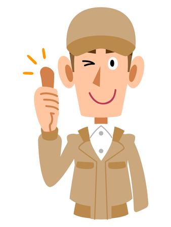 ap: Thumbsup to work wear for men Illustration