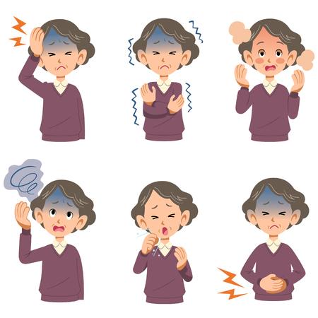 Symptoms of the disease of older women 6