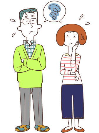 illustrate: Marital trouble Illustration