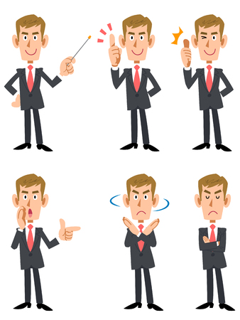 point i: Corporate 6 patterns pose and gesture