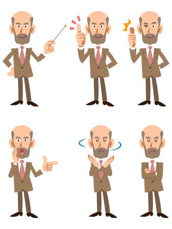older men: 6 types of older men in suits pose and gesture