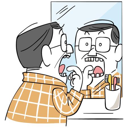 pasta de dientes: Los hombres de mediana edad que preocuparse de cavidades