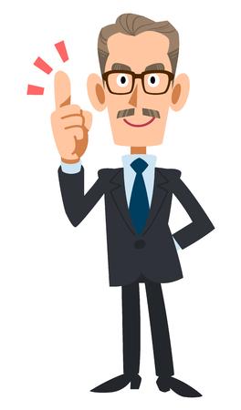 older: Suit older men to explain key points