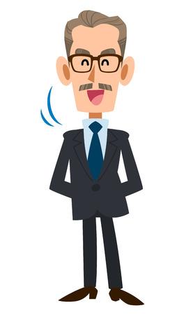 older men: Nodded in a suit older men