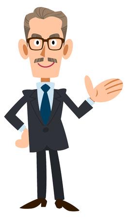 introduce: To introduce older suits men Illustration