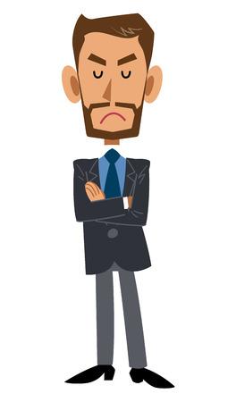 suspicion: angry man