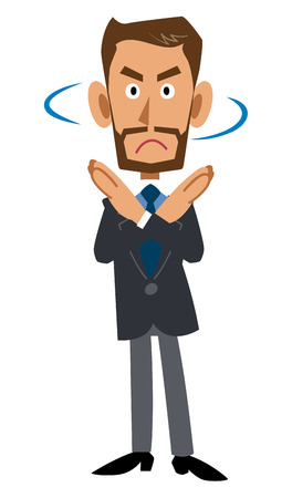 rejection: rejection. working man. expression Illustration