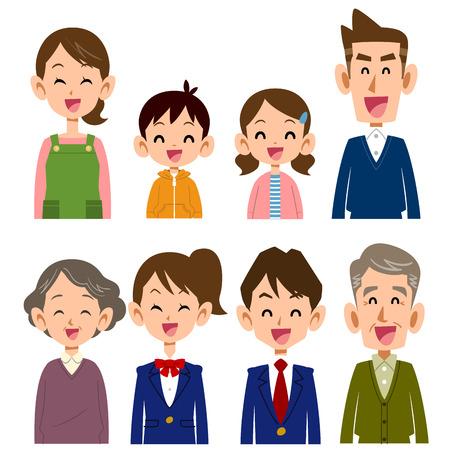Family smile  イラスト・ベクター素材