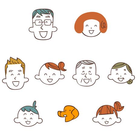 Family smile Illustration