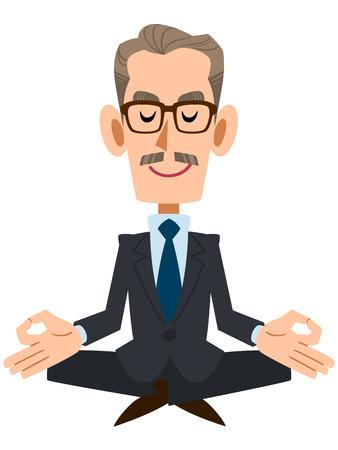 dignity: Elderly businessman Illustration
