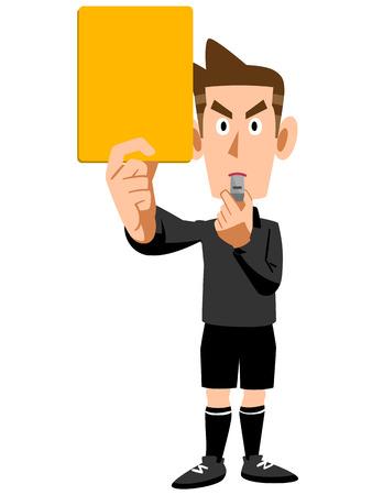 Gele kaart scheidsrechter waarschuwing Vector Illustratie