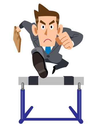 Corporate hurdles effort Illustration
