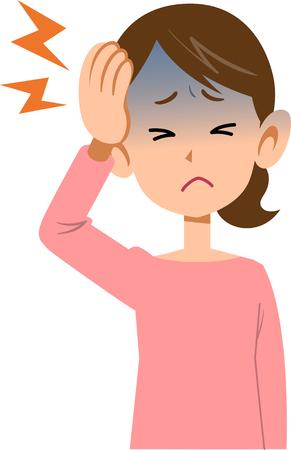 Bovenlichaam kwalen en vrouwen hoofdpijn