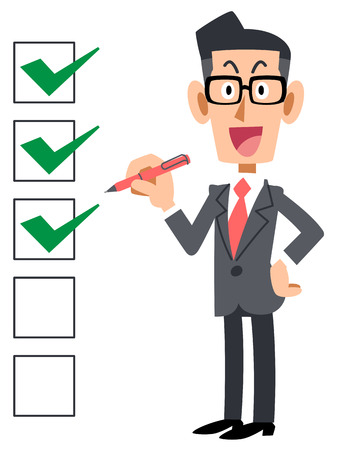 Checklist corporate smile eyeglasses