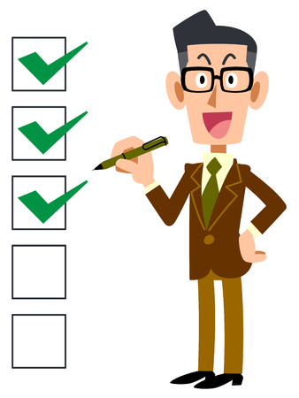 Checklist corporate smile eyeglasses