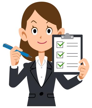 비즈니스 점검표 검토