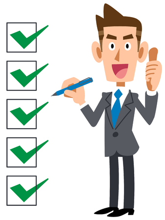 Completing the corporate checklist vector