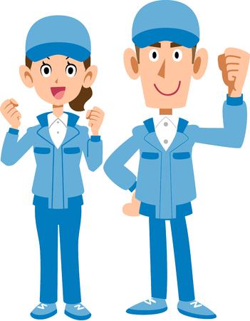 Crew staff Vectores