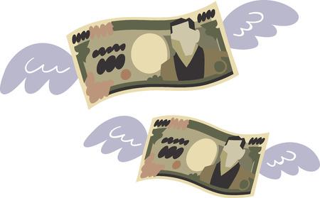 お金を無駄にしたの図。