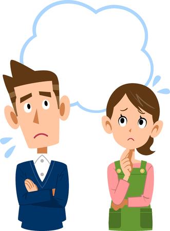 Uneasy Couple illustration Ilustração