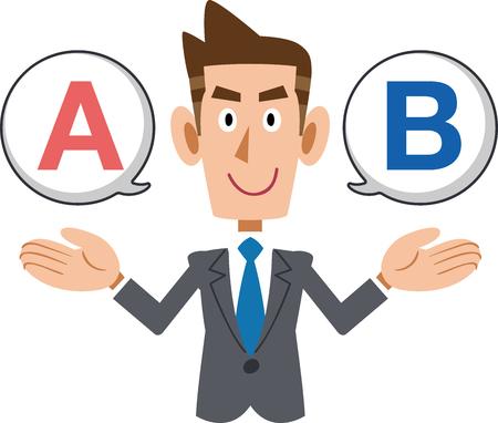 Businessman selection concept vector illustration