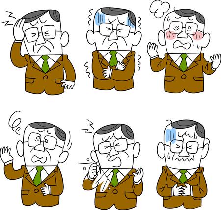 Senior businessman sickness 6 symptoms