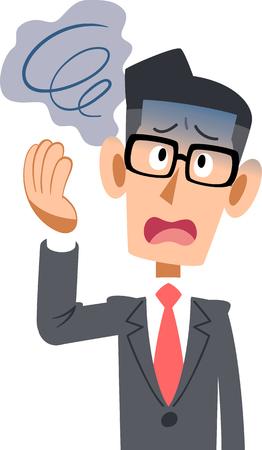 Office workers in suits men health bad Vertigo glasses