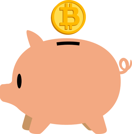 Virtual currency and pigs piggy bank
