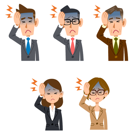 Male and female headaches of office workers