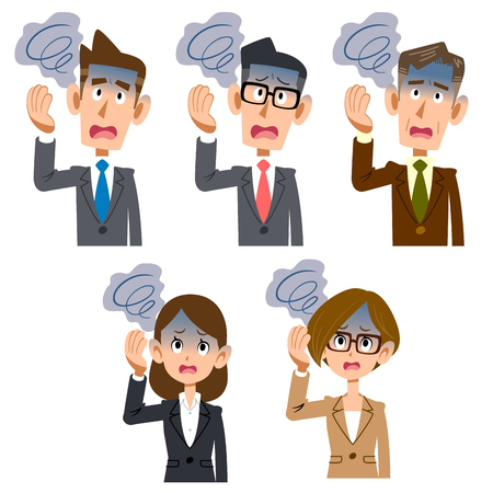 Dizziness of male and female office worker