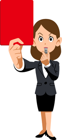 Female employees and red cards